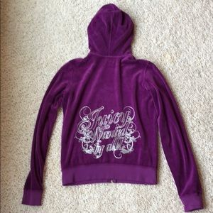 Juicy Couture purple glitter hoodie